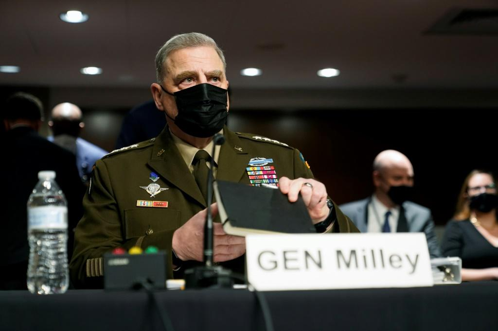 General Mark Milley, chairman of the US Joint Chiefs of Staff, said his calls to his Chinese counterparts in late 2020 and early 2021 were intended to de-escalate tensions