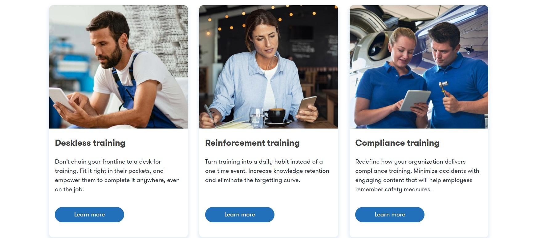 TalentCards offers a variety of training solutions