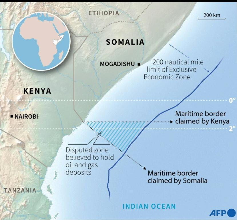 Rival claims in the maritime border dispute