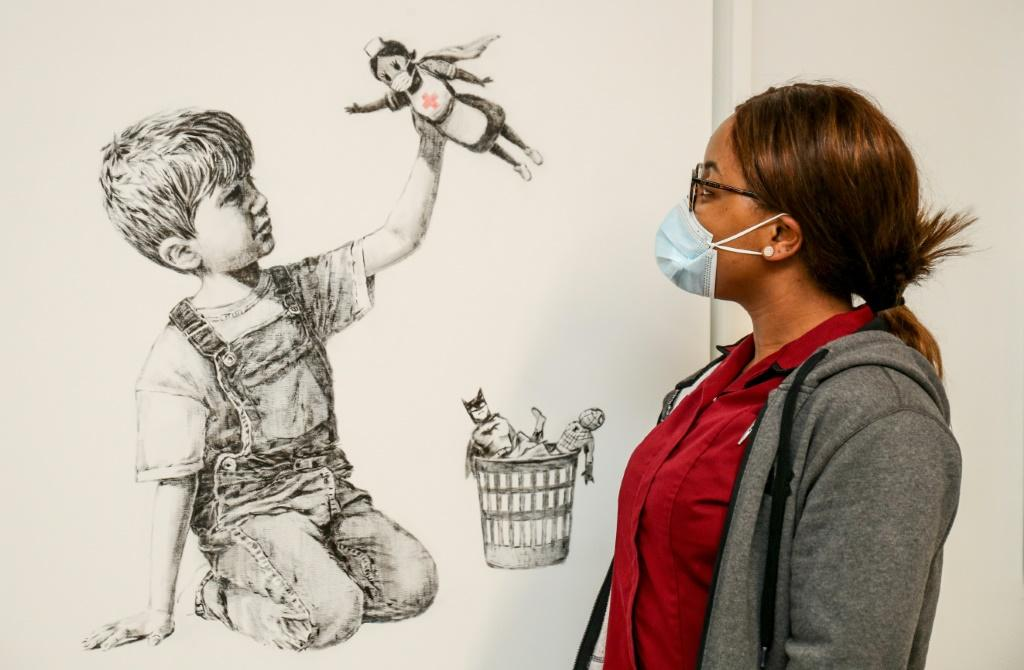 A Banksy work, 'Game Changer', was a tribute to NHS staff during the coronavirus pandemic