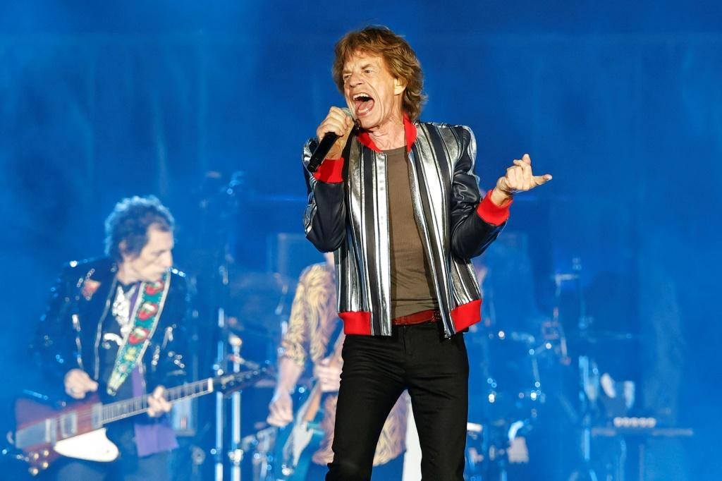 """Mick Jagger and the Rolling Stones perform in St. Louis, Missouri during the British rock band's """"No Filter"""" 2021 North American tour"""