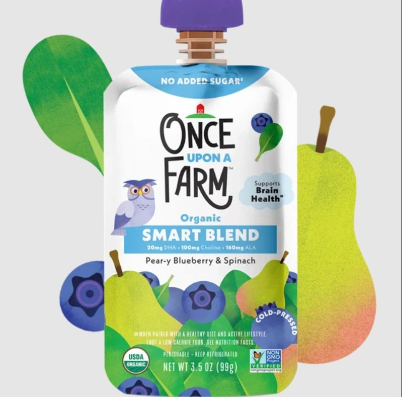 Once Upon A Farm Pear-y Blueberry & Spinach Smart Blend