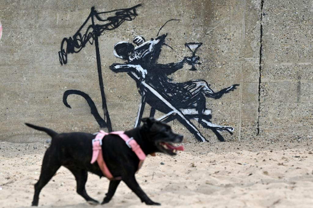 Recent works attributed to Banksy appeared on a wall at North Beach in Lowestoft on the east coast of England, in August