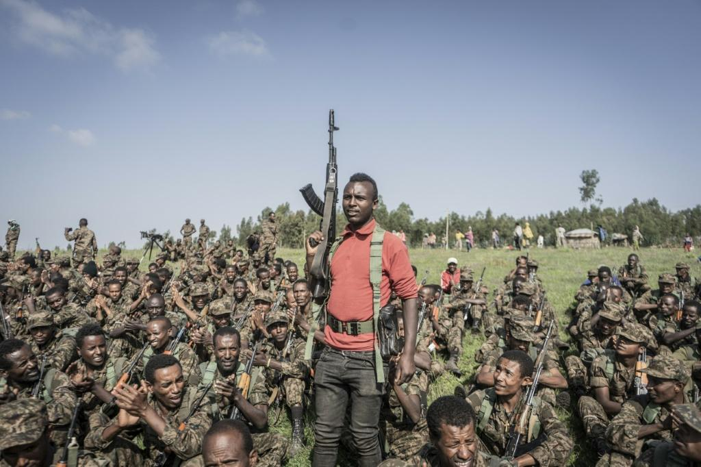 Soldiers from the Ethiopian National Defence Force held a training session in the Amhara region in September