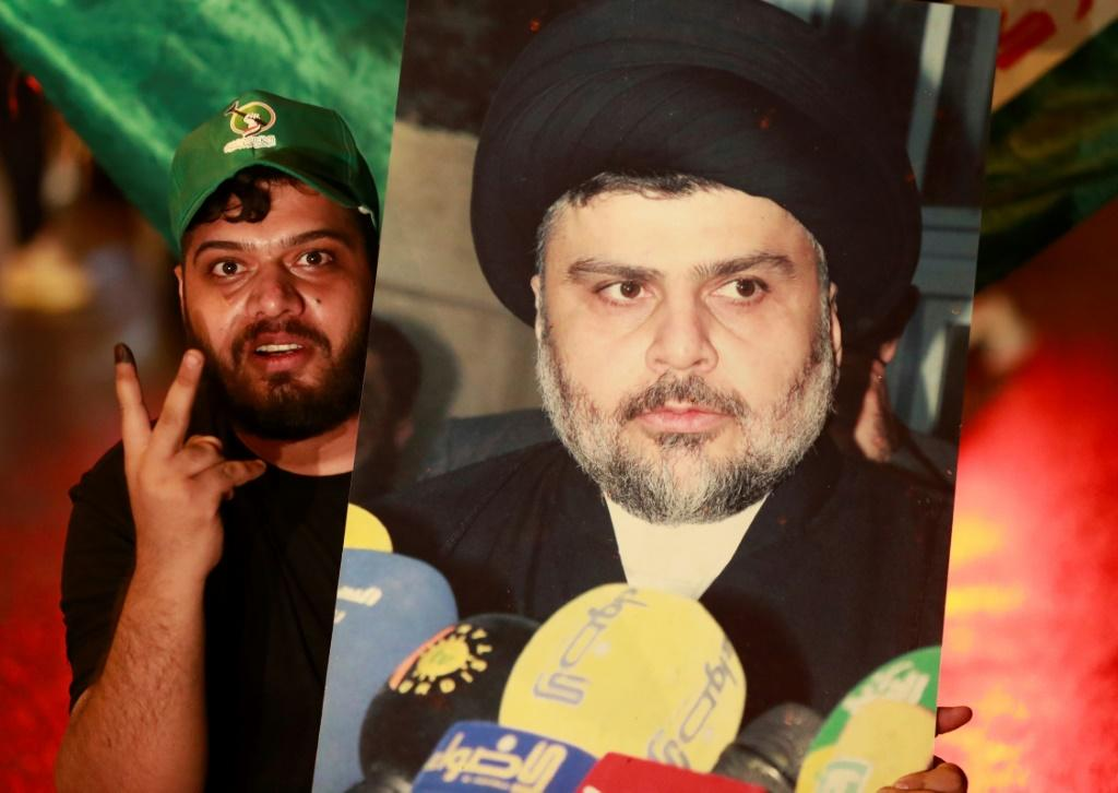 The political movement of Iraq's influential Shiite cleric Moqtada Sadr retained the biggest share of seats in the country's parliament, after elections with a record low voter turnout
