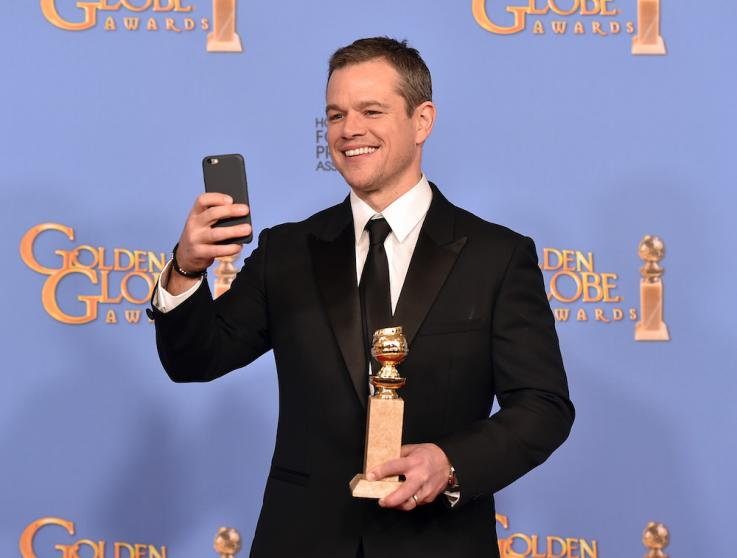 Me, My Selfie And I ... Matt Damon Captures A Winning Moment
