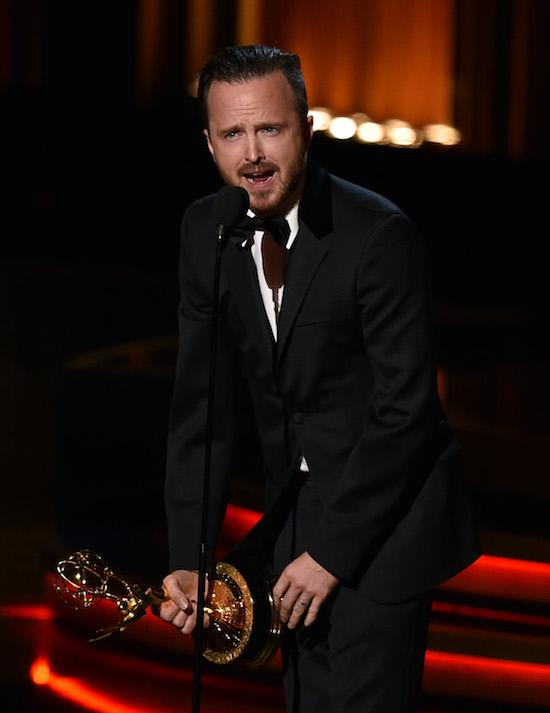 """Most OMG Emmys Moments Ever: Aaron Paul yells out """"Emmy Bitches"""""""