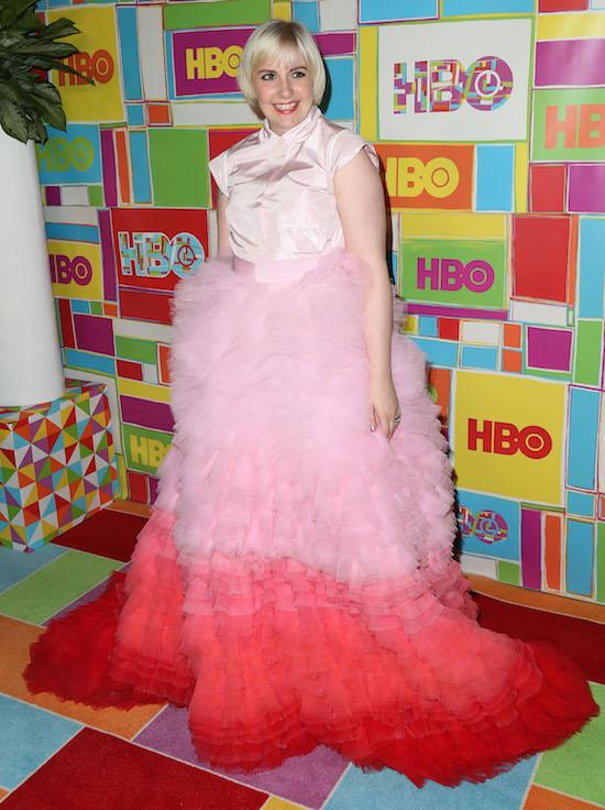 Most OMG Emmys Moments Ever: Lena Dunham's Frothy Mess