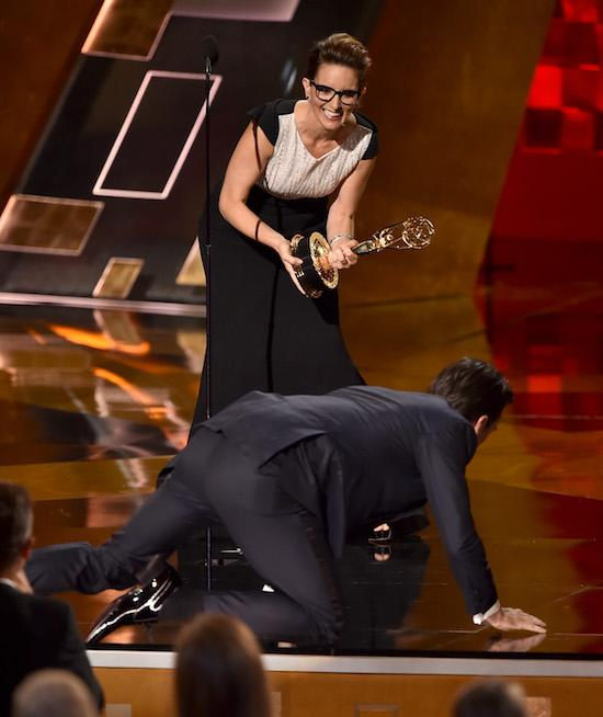 Most OMG Emmys Moments Ever: Jon Hamm Crawls On Stage To Accept His Award