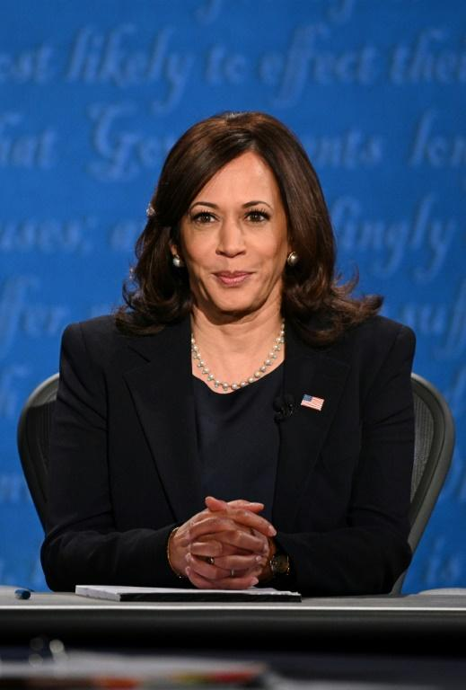 US Democratic vice presidential nominee Kamala Harris criticizes President Donald Trump's Iran policy during a debate with Vice President Mike Pence