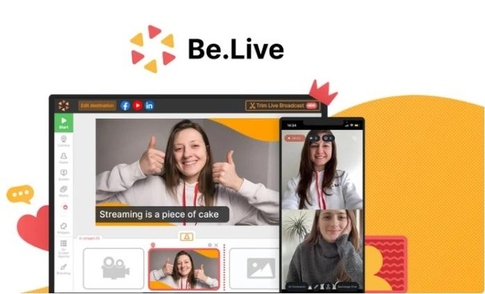 Be.Live lets you set up livestreams in no time