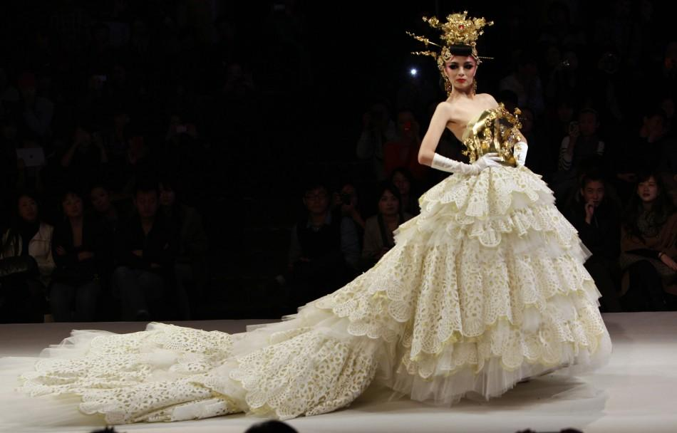 Couture Wedding Gowns: China Fashion Week: 'Haute Couture' Wedding Dresses Grace