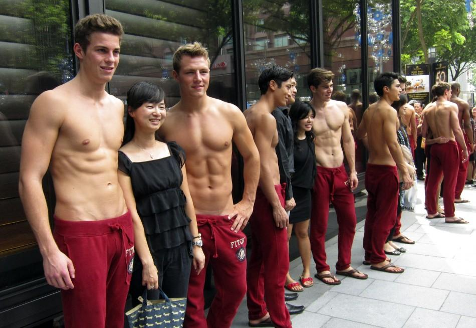 Abercrombie  Fitch Models Go Shirtless For Singapore Store Opening Photos-3729