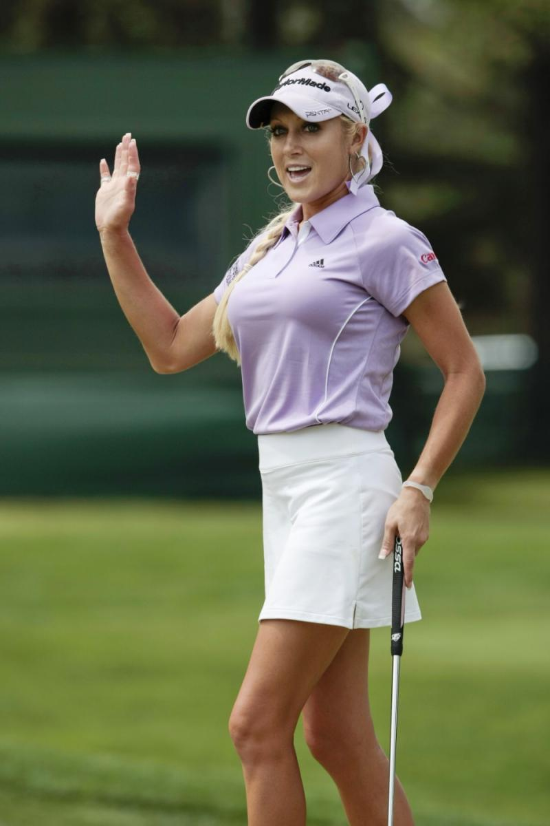 natalie gulbis wears body paint for sports illustrated