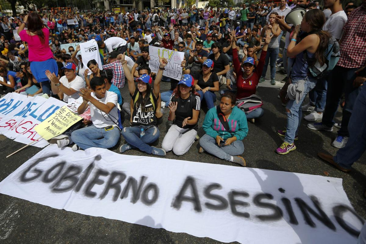 South American politics: Venezuelas naked protester and