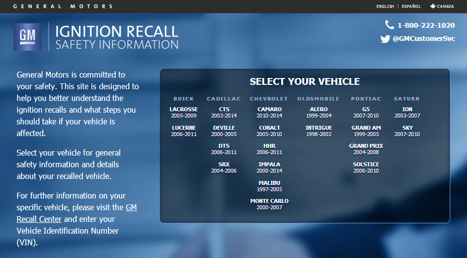 NHTSA Expands Recall Information Data To Include Specific