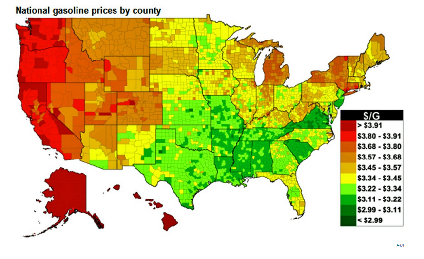 US Gas Prices Lowest Ahead Of Labor Day In Four Years