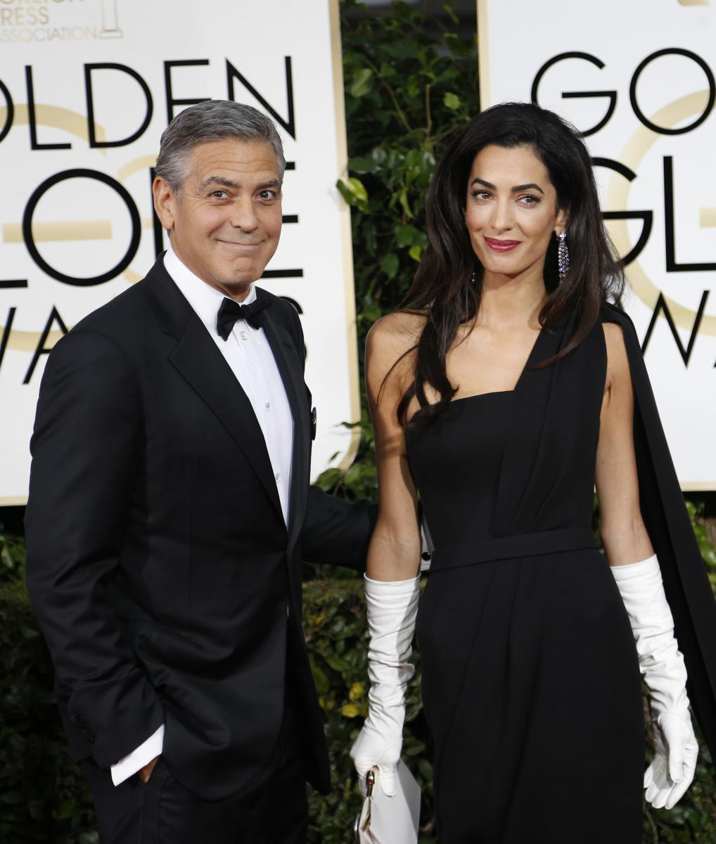 Amal Alamuddin's Golden Globes Gloves Compared To Porn By