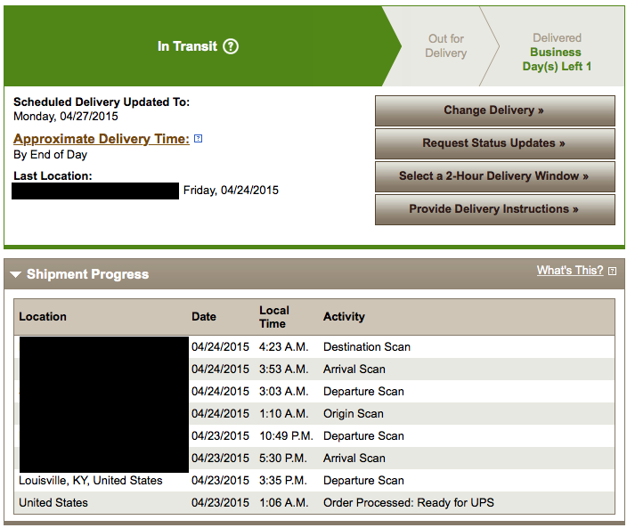 How UPS Sent Me Into A Minor Panic While Waiting For My