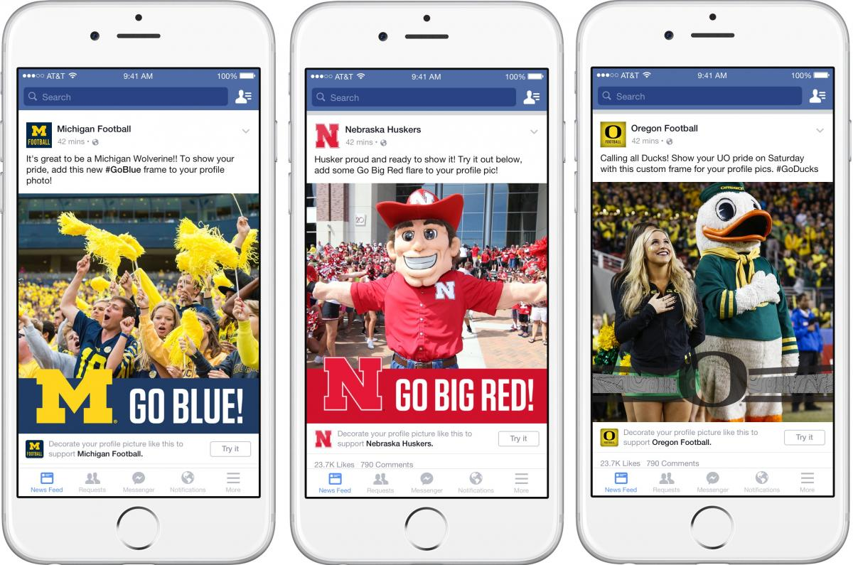 Facebook Adds College Football-Themed Profile Frames So Fans Can ...