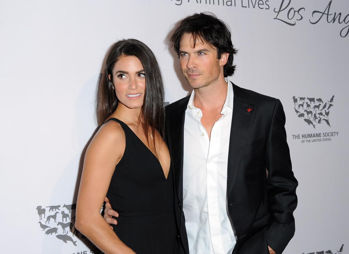 Ian Somerhalder And Nikki Reed Share A Sexy Kiss At The Beach