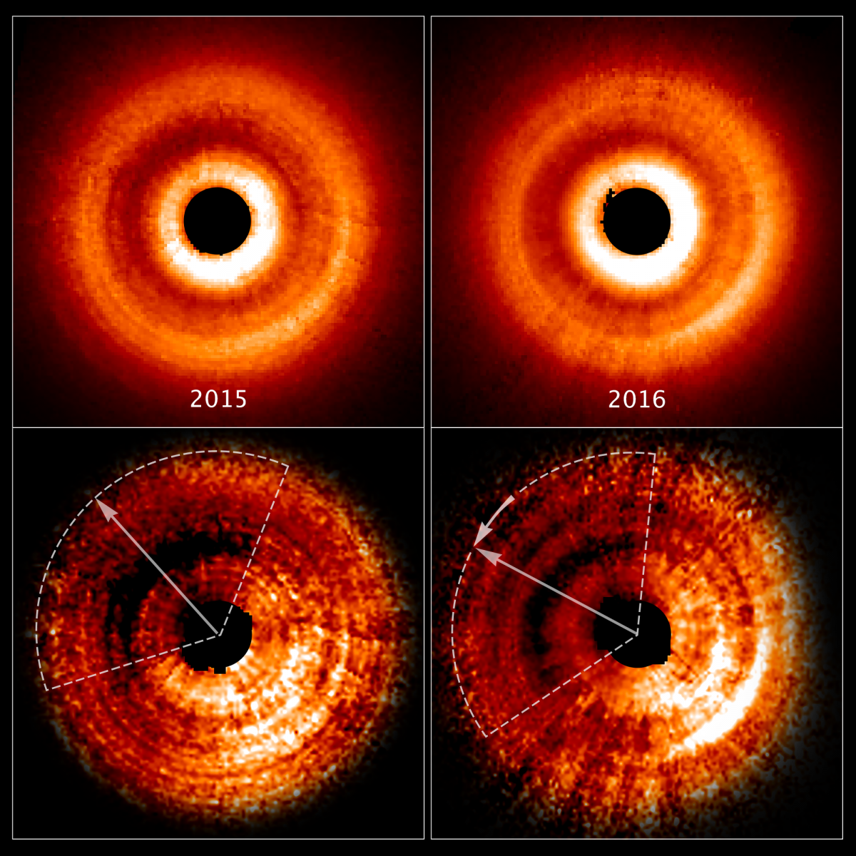 Hubble Space Telescope Detects Shadow In A Young Star's Circumstellar Disk Possibly Caused By Orbiting Planet