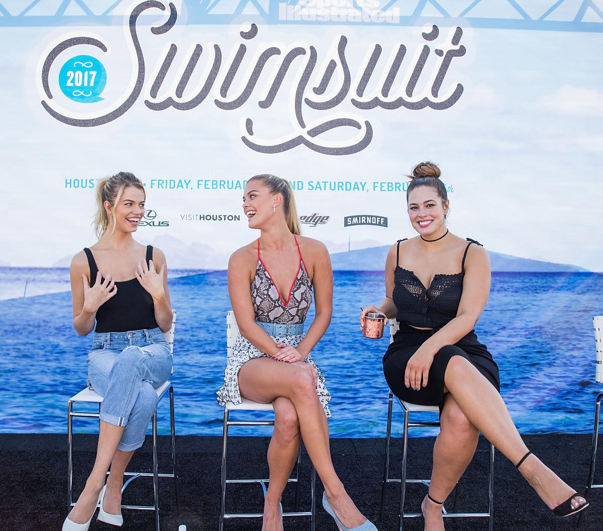 Ashley graham vibes by si swimsuit launch festival in houston new images