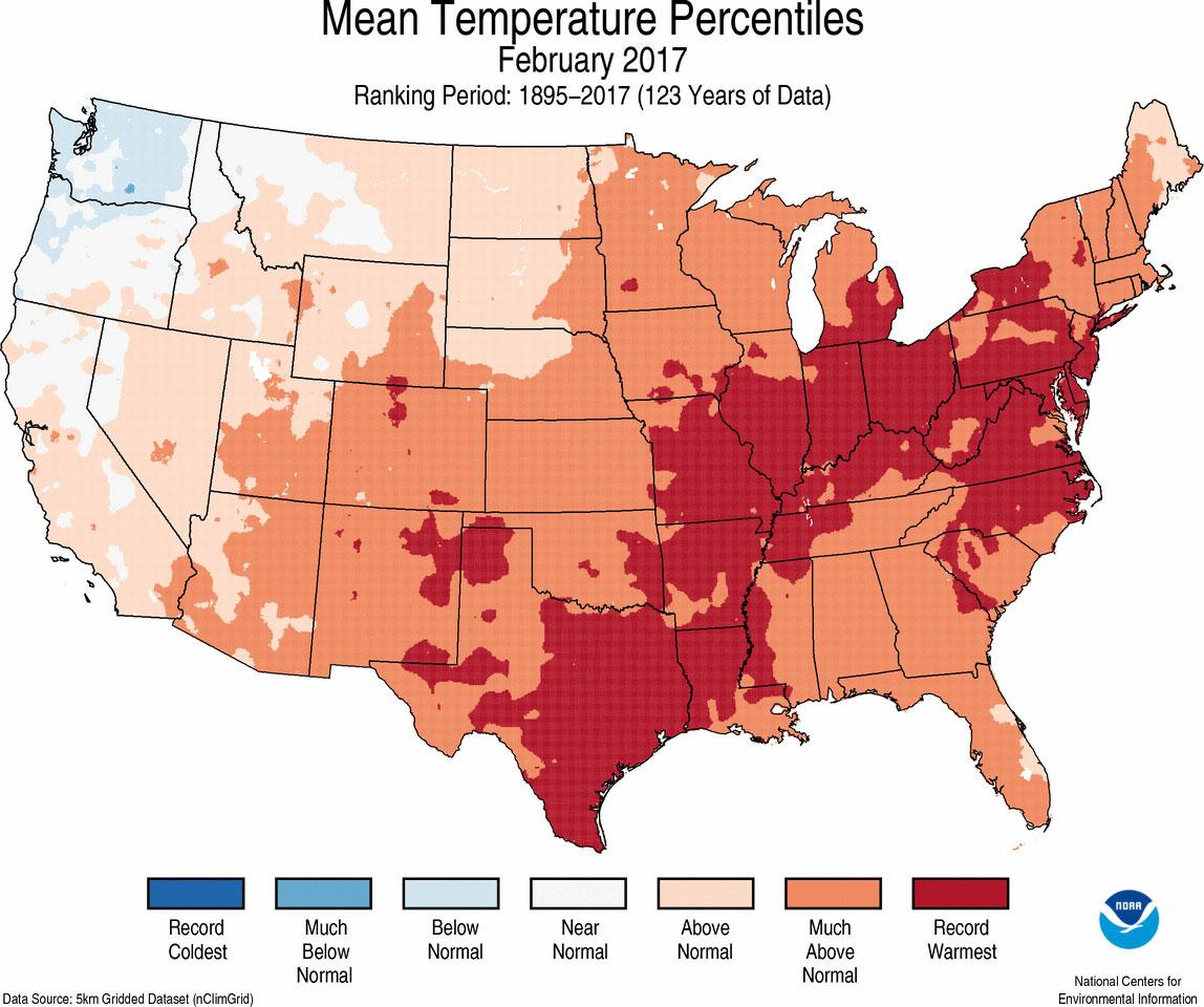 Climate Change News: February 2017 Was Second Hottest On Record