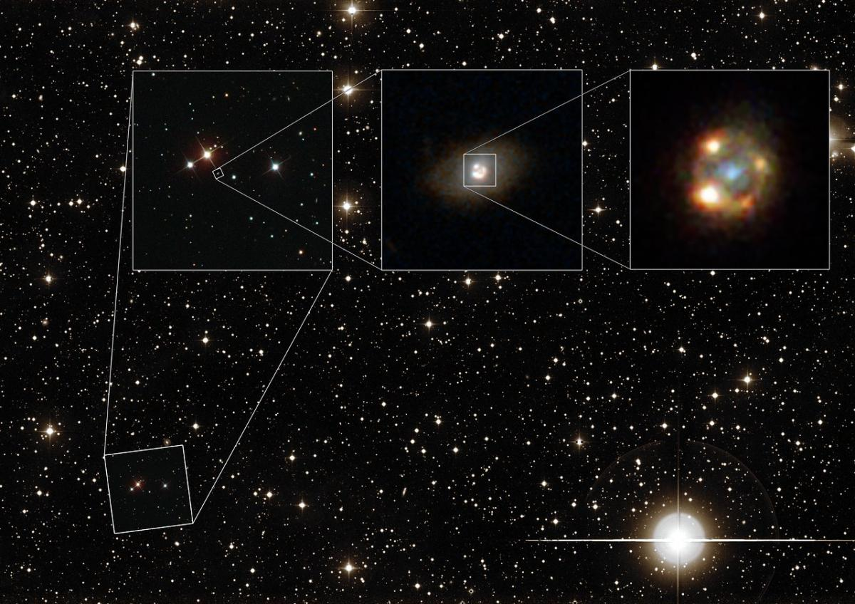 In A First, Gravitational Lens Reveals Magnified And Multiplied Images Of A Type 1a Supernova