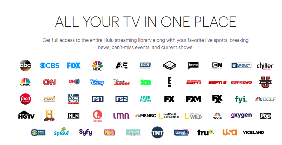 Hulu Launches Live TV Streaming: Channel List Includes HGTV, Food