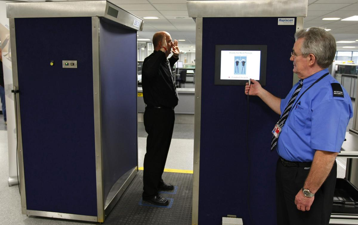 Naked body scanners being moved out of major airports
