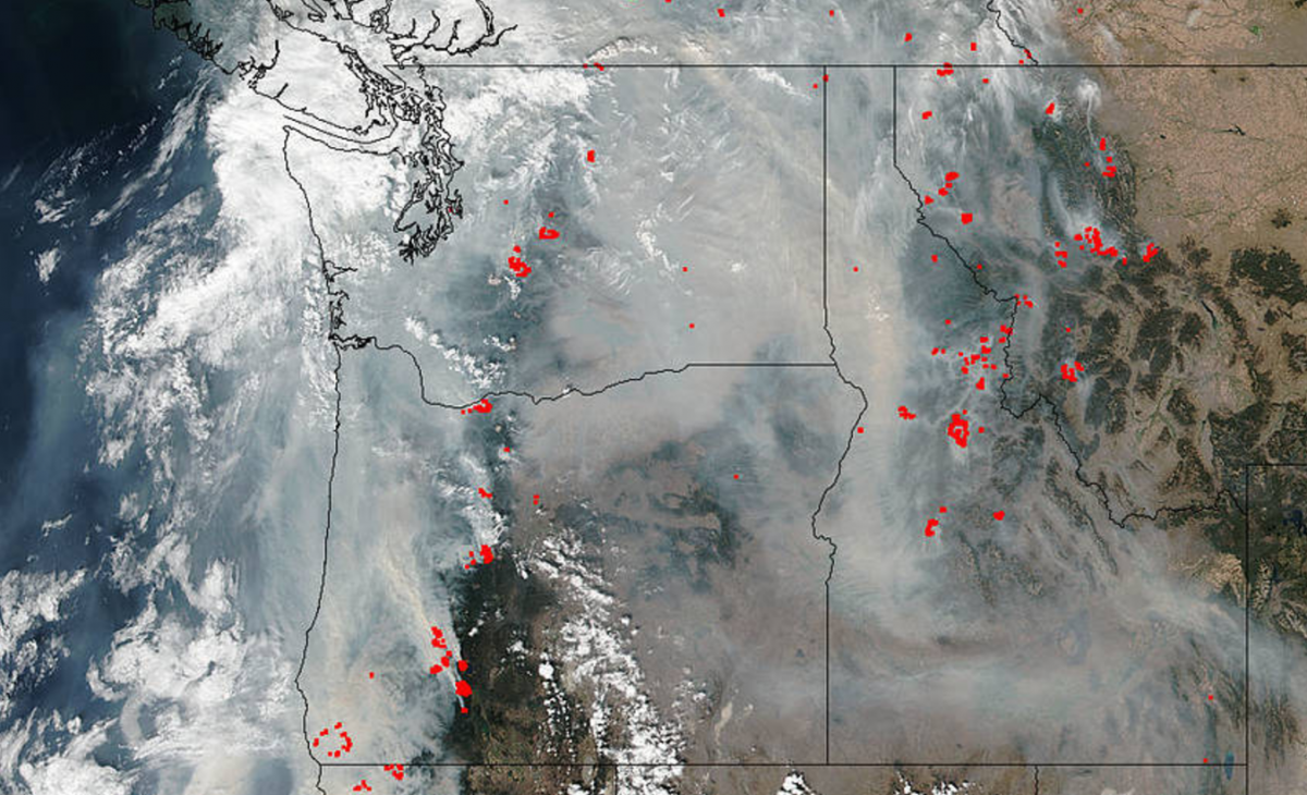 Wildfire Map 2017 76 Fires Engulf Oregon Other Western States