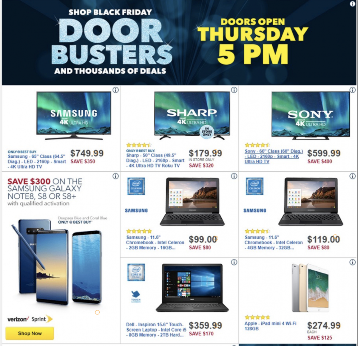 huge discount beda5 b1ea8 Black Friday 2017 Deals: Best Buy, Target Ad Released, Walmart Still ...