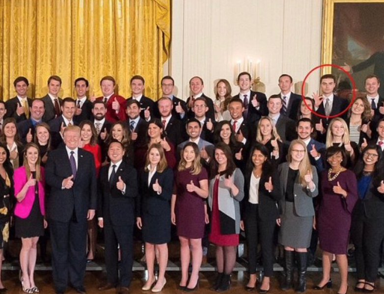 no  that white house intern u0026 39 s  u2018ok u2019 hand gesture isn u2019t a