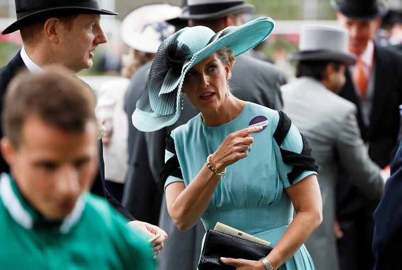Sophie Countess Of Wessex's Royal Ascot Blue Stone Ring