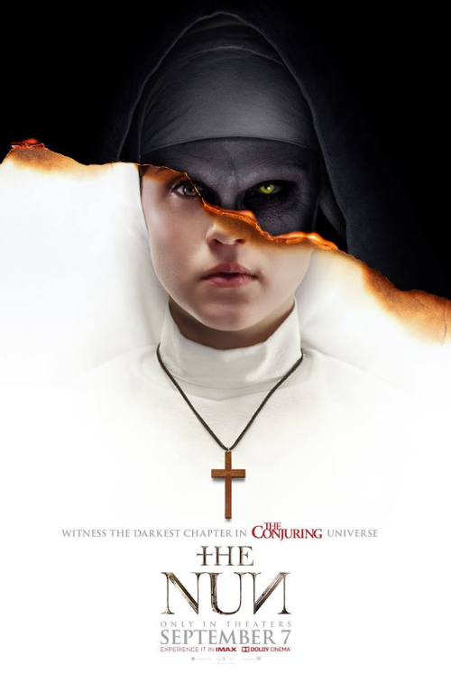 the movie poster for fall 2018s the nun photo warner bros