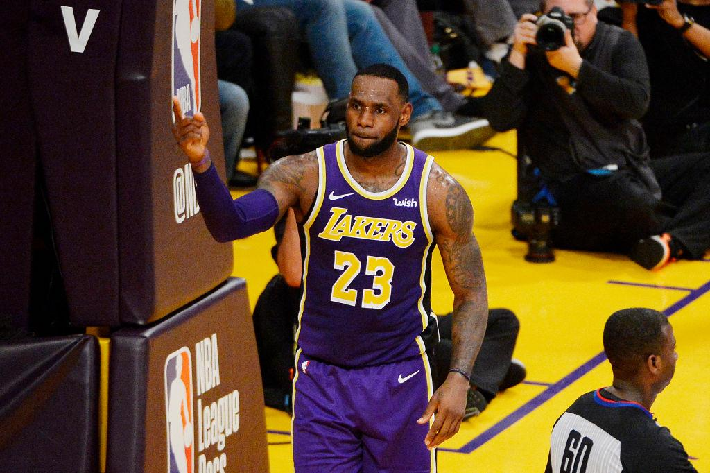 ae388f0998c LeBron James will be playing on scaled down minutes as the Lakers wind up  their 2018-19 NBA season. LeBron James  23 of the Los Angeles Lakers  celebrates ...