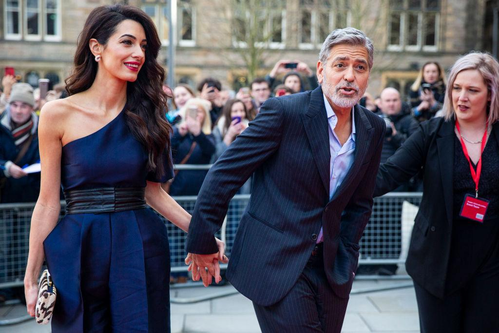 George, Amal Clooney Spotted With Their Twin Children ...