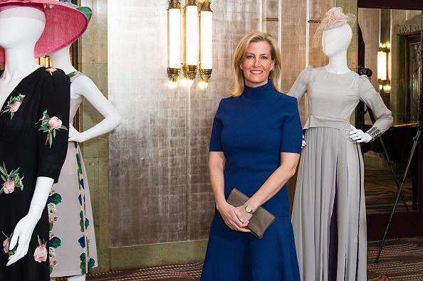 Sophie Countess Of Wessex Gorgeous In Blue Dress After
