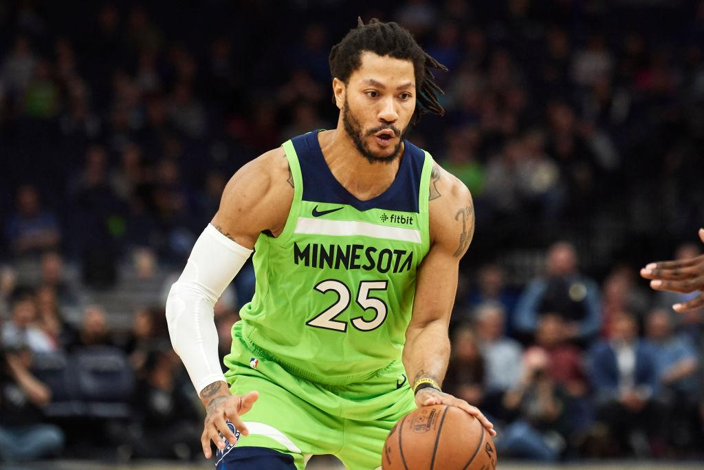 d9054c7432dd Derrick Rose could end up ending his NBA career with the Chicago Bulls in  the future. Derrick Rose  25 of the Minnesota Timberwolves dribbles the  ball ...