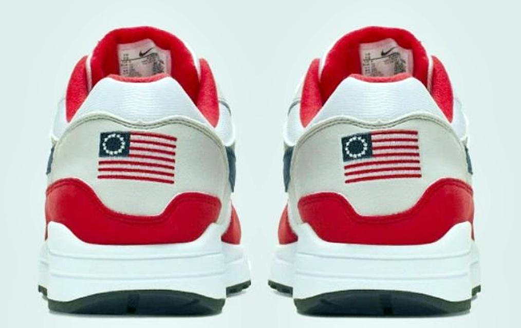81166386 Nike 'Betsy Ross Flag' Sneakers For Sale At $2,500 On StockX