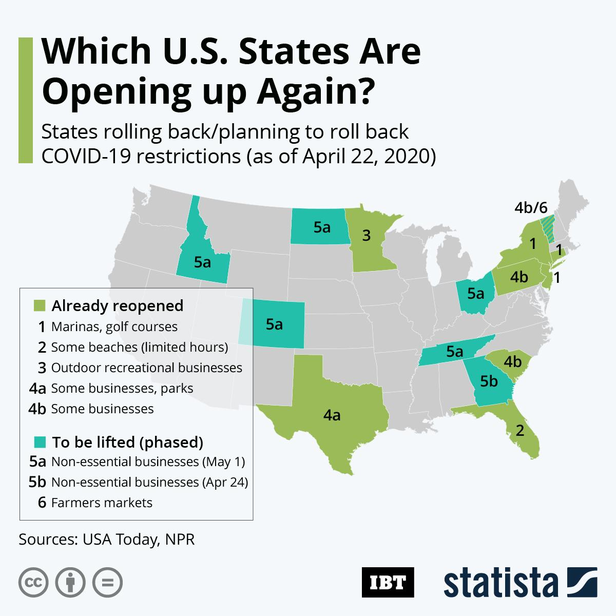 Infographic: Which US States Are Opening Up Again?