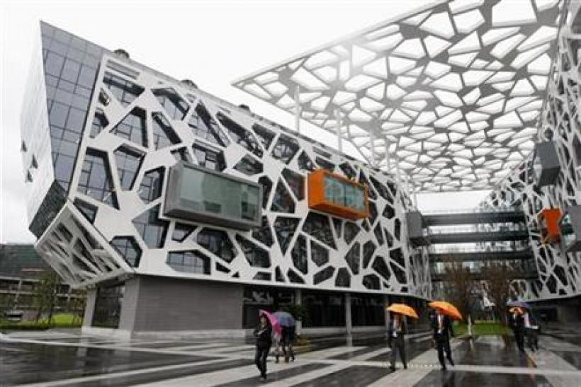 A view of the office building of Alibaba (China) Technology Co. Ltd on the outskirts of Hangzhou, Zhejiang province
