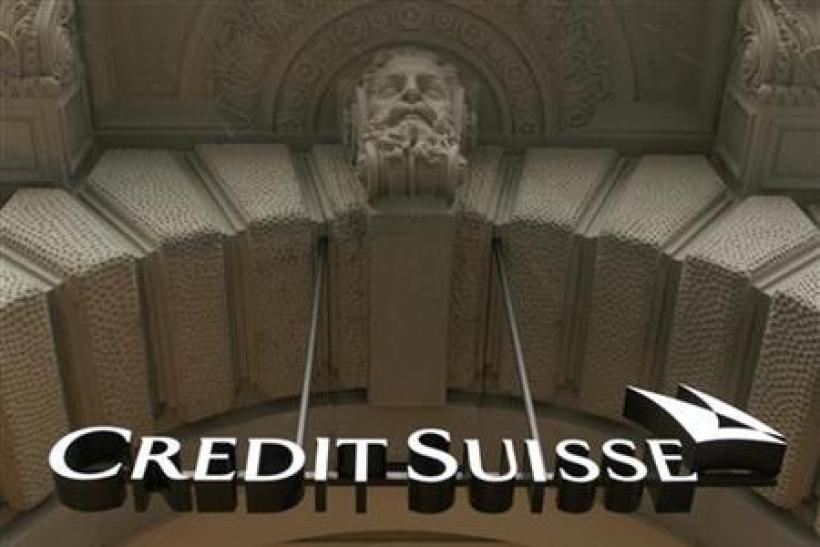 The logo of Swiss bank Credit Suisse is pictured at the company's headquarters in Zurich