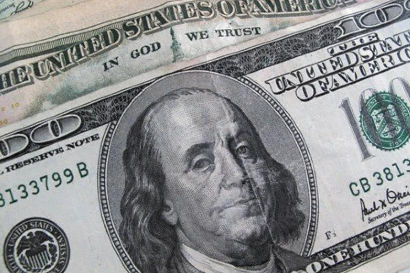A U.S. $100 dollar bill is seen