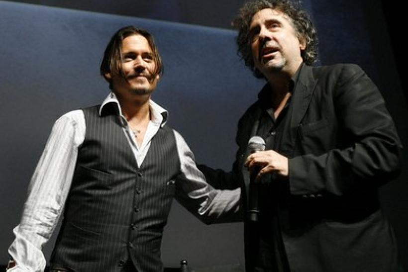 Tim Burton with actor Johnny Depp