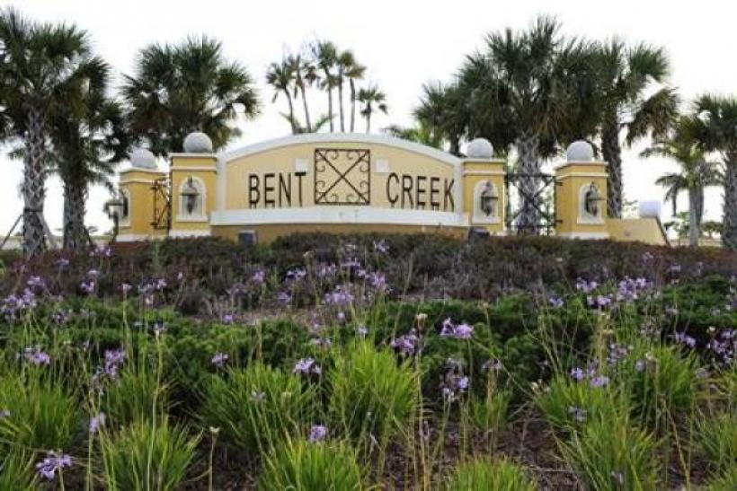The entrance to an unfinished phase in the Bent Creek development by Lennar in Ft. Pierce, Florida