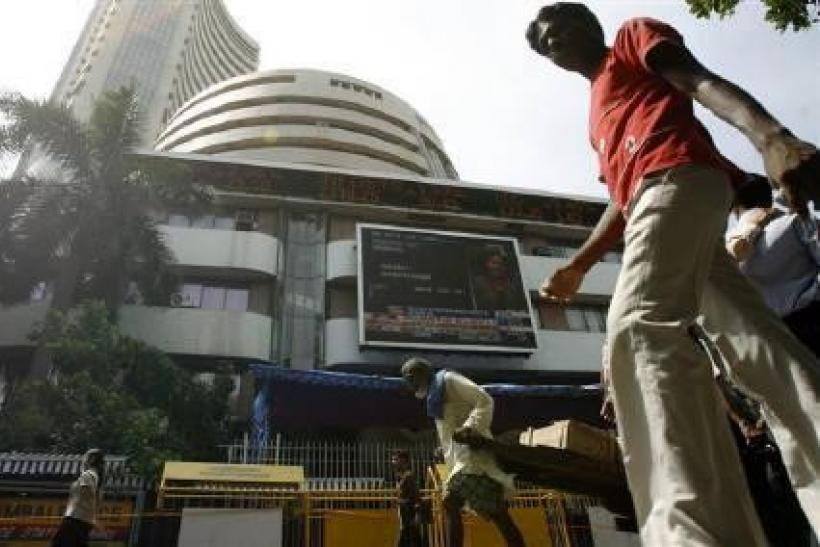 The BSE Sensex shrugged off a sluggish start and nudged higher for the first time in three sessions on Tuesday, powered by engineering conglomerate Larsen & Toubro.