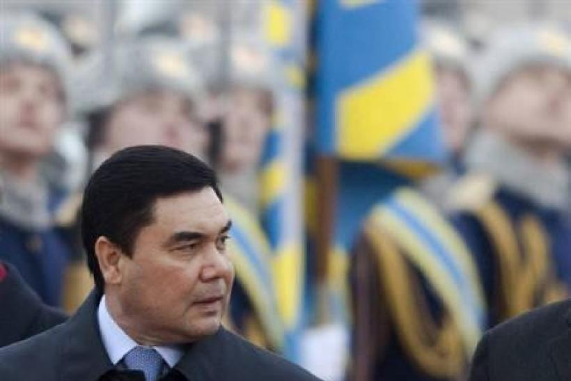 Turkmenistan's President Kurbanguly Berdymukhamedov in Moscow in this March 24, 2009 file photo.