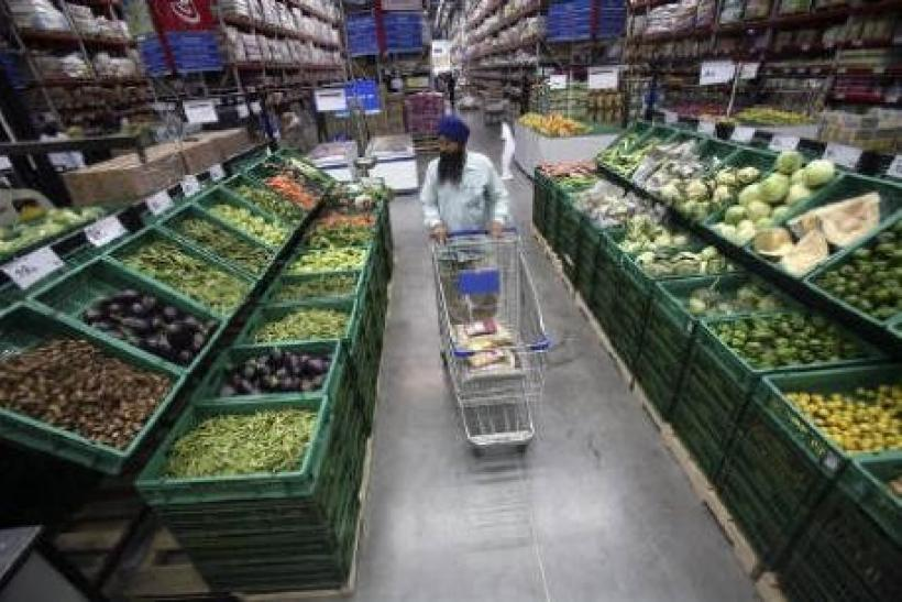 India's food inflation rate slackened in mid-May, after picking up pace for two weeks, giving the Reserve Bank more leeway to hold rates until its July review and gauge the impact of euro zone debt woes on the domestic economy.